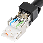 Netzwerkstecker RJ45 Belegung nach EIA/TIA Farbcode