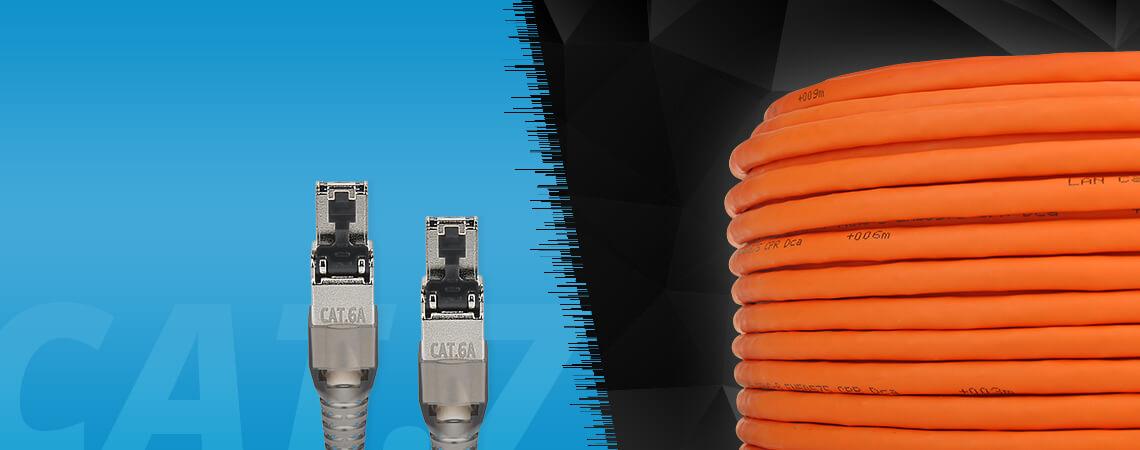 Netzwerk-Set easy Installationskabel & Stecker 3-teilig 100 m