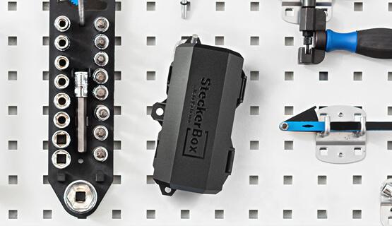 SteckerBox Mini Anwendung Werkzeugwand