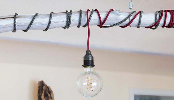 Textilkabel Ast Lampe