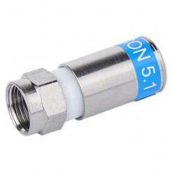 F-Stecker zum Anschrauben für Kabel-ø 5,9mm