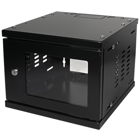 10 Zoll Netzwerkschrank Mini Rack schwarz