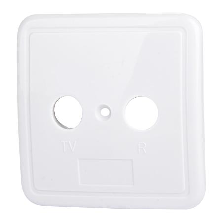 2-Loch Abdeckung für Antennendosen weiß
