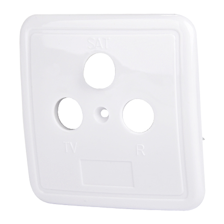 3-Loch Abdeckung für Antennendosen weiß