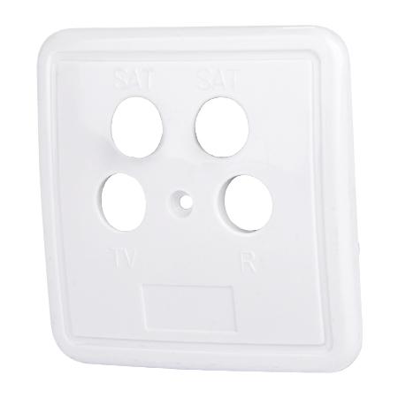 4-Loch Abdeckung für Antennendosen weiß