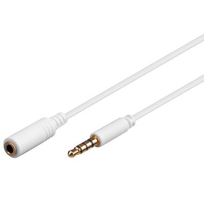 Audio Verlängerung 4-polig weiß