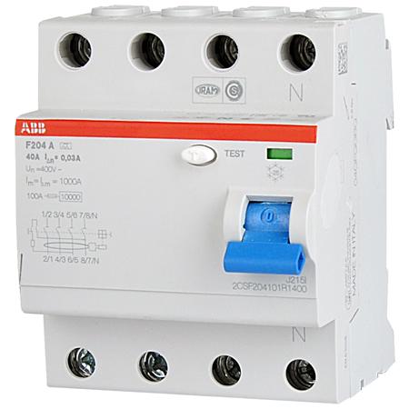 ABB FI-Schutzschalter 4-polig 40 A, 30 mA