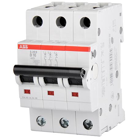 ABB Sicherungsautomat Leitungsschutzschalter 3-polig B16 A