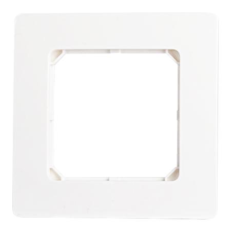 Abdeckrahmen für Raumthermostat 50x50 reinweiß glänzend