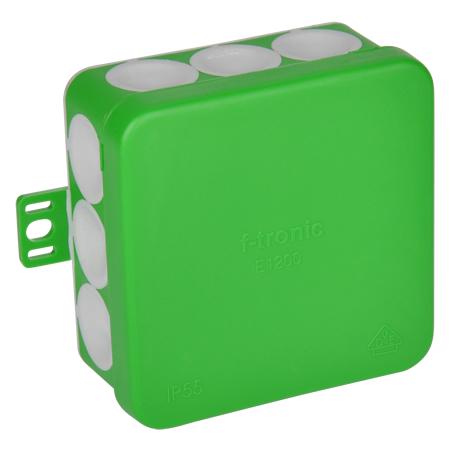 Abzweigdose IP55 mit Durchstoßmembran 80x80x37 mm grün