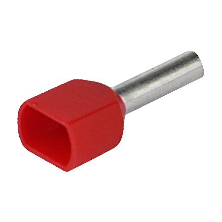 Aderendhülse doppelt 1,00 mm² rot 100 Stück