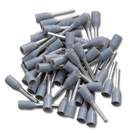 Aderendhülsen 0,75 mm² grau (100 Stück)