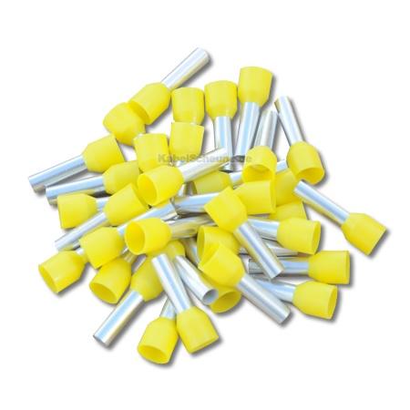 Aderendhülse 6,00 mm² gelb 50 Stück