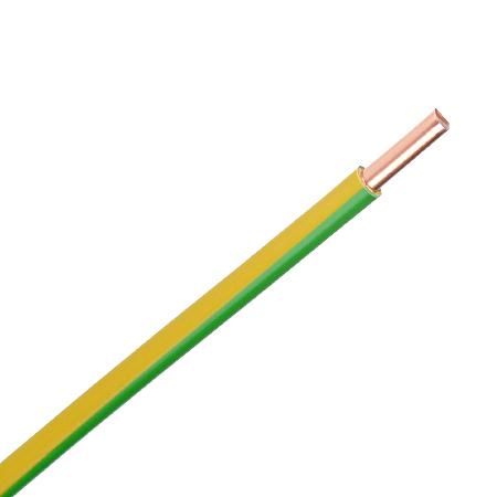 Aderleitung starr H07V-U 1x6 mm² grün/gelb 100 m