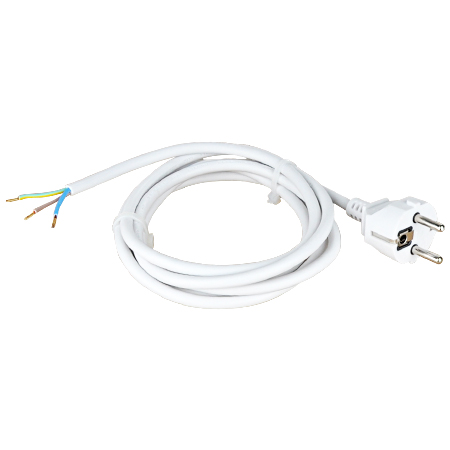 Anschlusszuleitung H05VV-F weiß 2 m 3x1,0 mm²