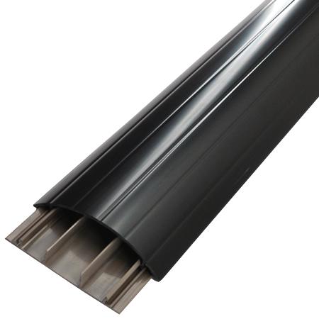 Aufbodenkanal 18x75 schwarz 0,8 m