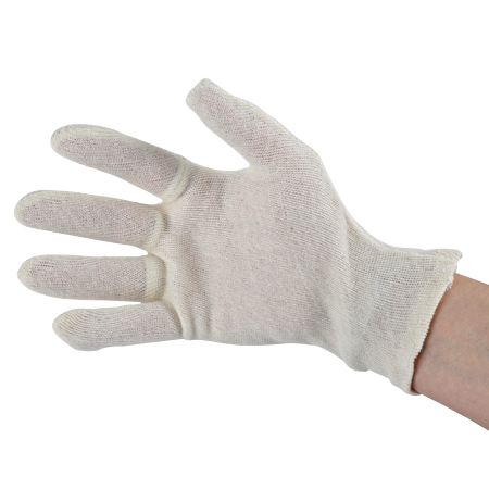 Baumwollhandschuhe weiß Stoffhandschuhe 1 Paar