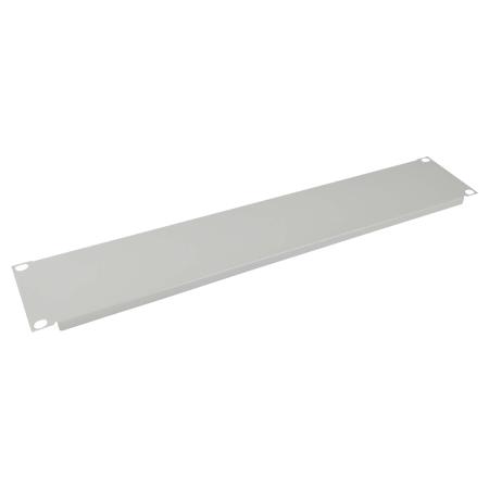 Blindplatte Abdeckplatte 48,3 cm 19 Zoll lichtgrau 2 HE