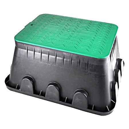 Bodeneinbaudose Jumbo mit grünem Deckel