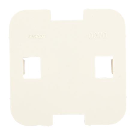 Bodenplatte / Montageplatte 1-fach reinweiß