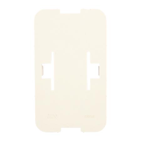 Bodenplatte / Montageplatte 2-fach reinweiß