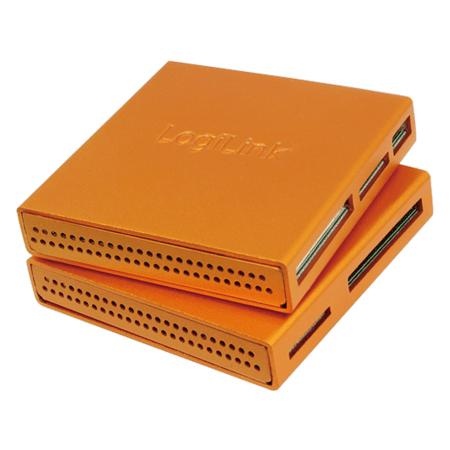 LogiLink Cardreader USB 2.0 All-in-One Alu orange