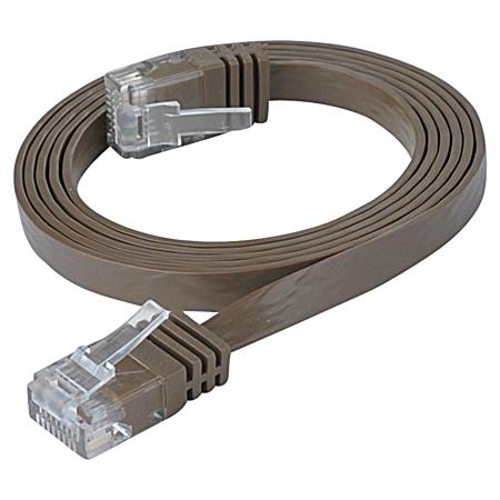 Cat.6 Patchkabel RJ45 LAN Kabel flach slim UTP dunkelbraun