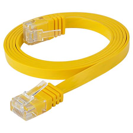 Cat.6 Patchkabel RJ45 LAN Kabel flach slim UTP gelb