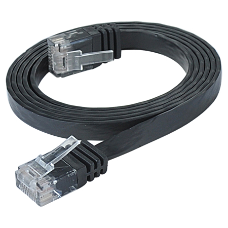 Cat.6 Patchkabel RJ45 LAN Kabel flach slim UTP schwarz