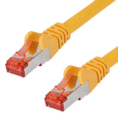 Cat.6a Patchkabel RJ45 LAN Kabel S-FTP/PIMF gelb