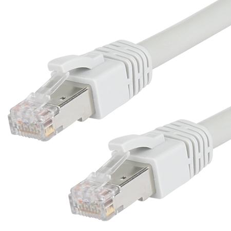 Cat.8.1 Patchkabel LAN Kabel RJ45 grau