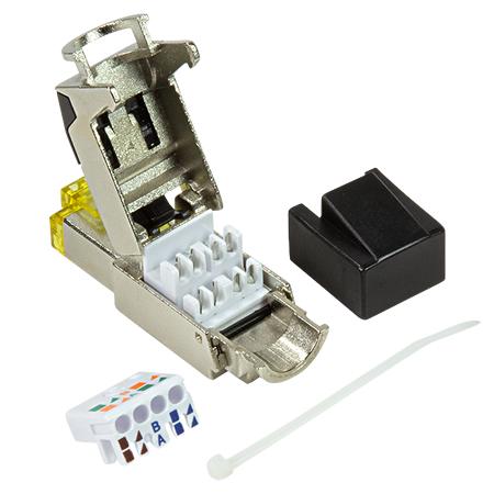 Cat.8.1 Stecker RJ45 8-polig 40 GBit/s Ethernet + PoE