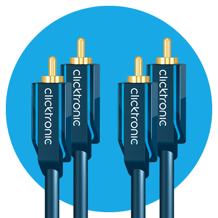Clicktronic Stereo Audiokabel, Casual