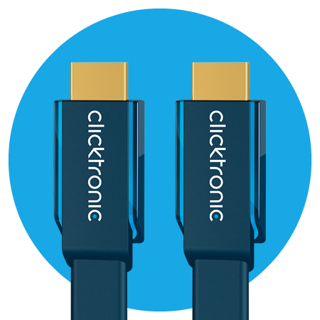 Clicktronic High Speed HDMI Flachkabel, Casual