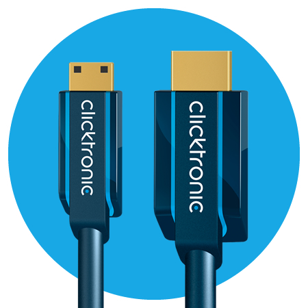 Clicktronic Mini-HDMI Adapterkabel, Casual