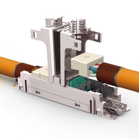 EasyLan fixLink Extender Kat.6A Verbinder geschirmt für Litze