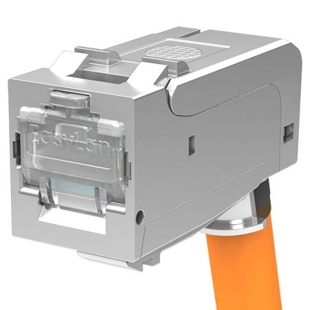EasyLan fixLink SL RJ45 flex Keystone Modul Kat.6A gewinkelt für Litze