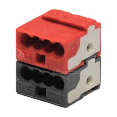 EIB KNX Steckverbinder rot/dunkelgrau