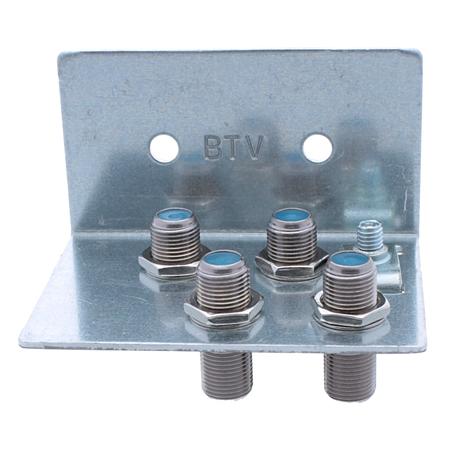 Erdungswinkel SAT / BK Erdungsschiene für F-Stecker 4-fach