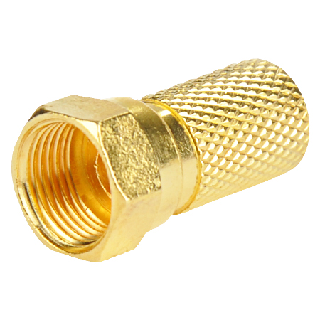 F-Stecker 7,0 mm vergoldet