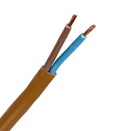 Flachleitung H03VVH2-F 2x0,75 mm² braun