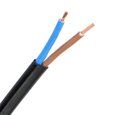 Flachleitung H03VVH2-F 2x0,75 mm² schwarz