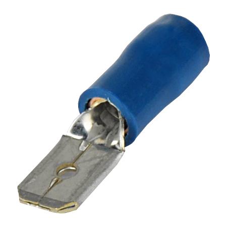 Flachstecker isoliert blau