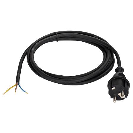 Gummi Anschlussleitung H05RN-F 3x1 mm² schwarz 3 m