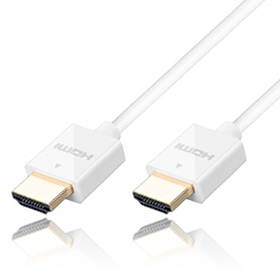 High Speed HDMI Kabel with Ethernet Slim weiß