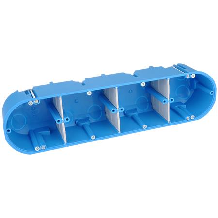 Hohlwanddose massiv blau 4-fach