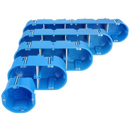 Hohlwanddose massiv blau