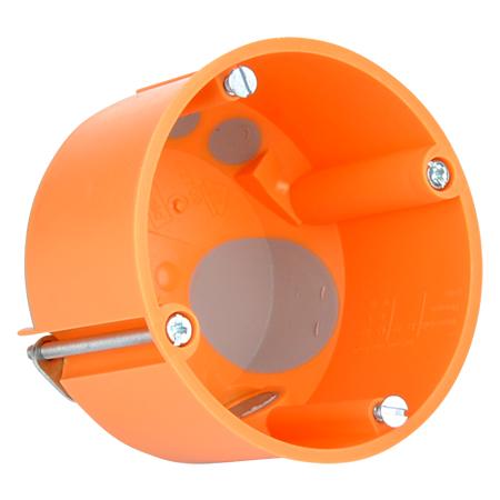Hohlwanddose winddicht mit Durchstoßmembran 47 mm flach