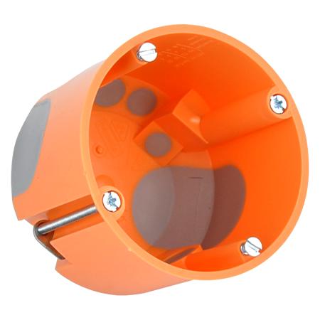 Hohlwanddose winddicht mit Durchstoßmembran 61 mm tief