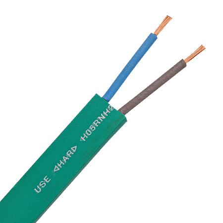 Illu Kabel / Leitung flach H05RNH2-F 2x1,5 mm² grün